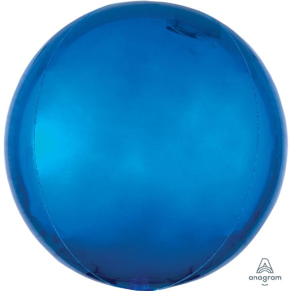 Blue Round Orbz 15in Balloon